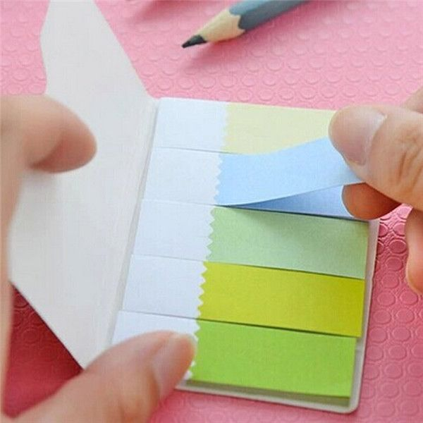 Rainbow Color Memo Pads Mini Sticky Notes Post-it Note Random