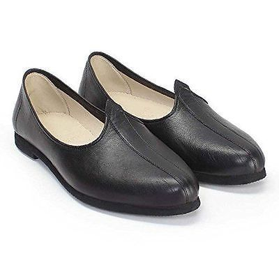 Men-Leather-Jutti-Black-Punjabi-US-Indian-Style  55de645994