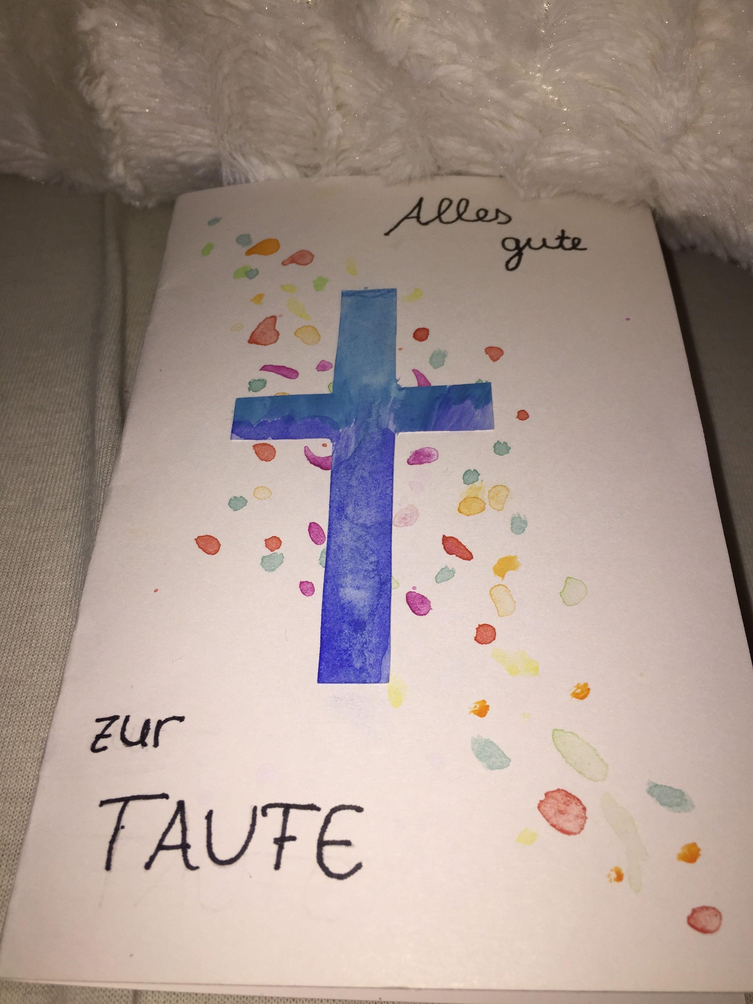 Eine Geschenkkarte Für Die Taufe Diese Karte Habe Ich