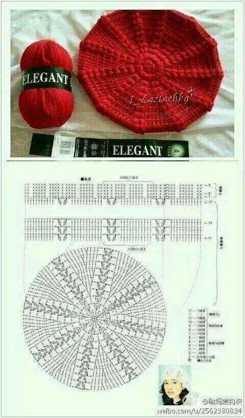 Boina Crochet modelo y patrón | crochet | Pinterest | Modelado ...