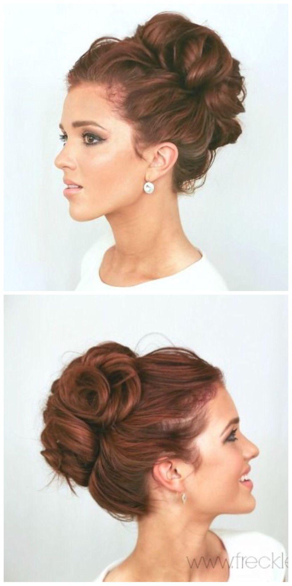 Moño alto más peinados pinterest elegant bun elegant and hair