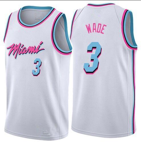 Miami Heat Dwyane #3 Wade Basketball Jersey Vest Edition Vice Nights Shirt