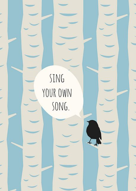sing your own song' free 5x7 art print by life made lovely | words ...