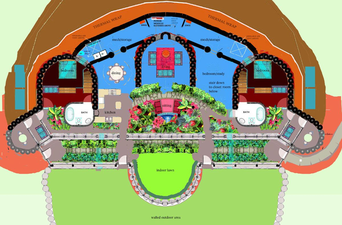 Free earthship house plans