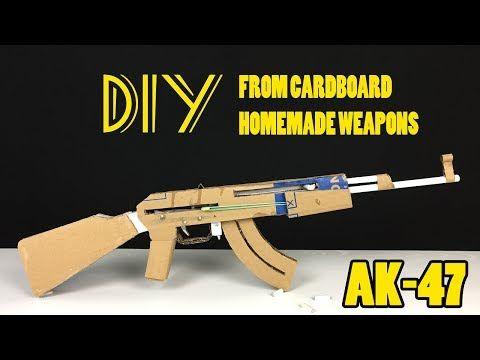 how to make a machine gun with cardboard