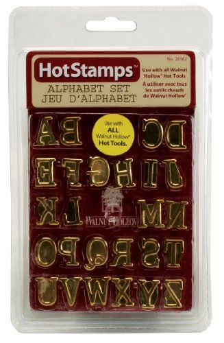wood burning set hotstamps alphabet branding set contains the full alphabet a to z fits walnut hollow irons weller hot irons