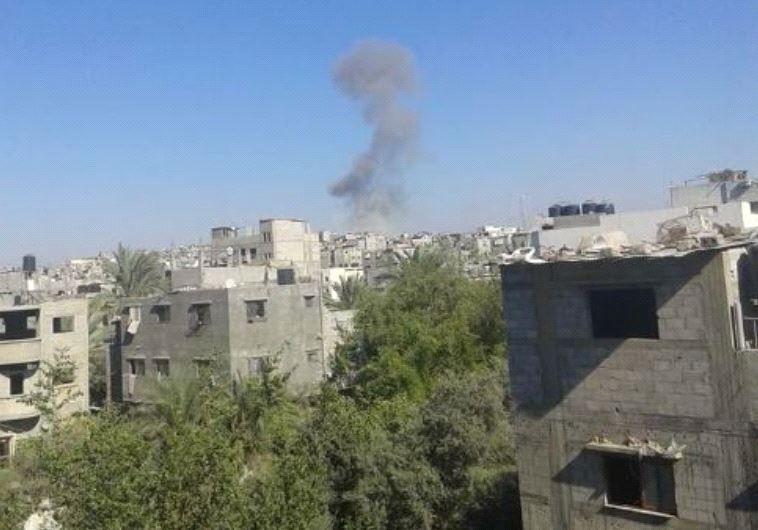 דיווח פלסטיני צהל תקף שוב ברצועת עזה בתגובה לירי הרקטה - מעריב