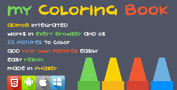 My Coloring Book Html5 Game Phaser Coloring Books Books Color