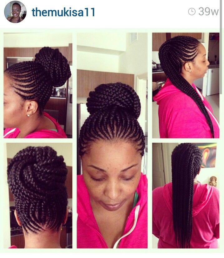 Wedding Hairstyles Youtube: Perfect Cornrow Bun Check Out Themukisa11 On YouTube
