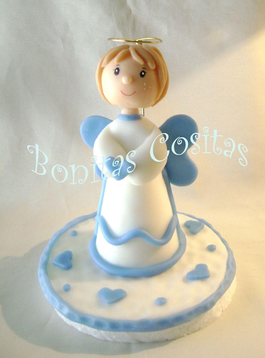 tortas de comunion con angelitos