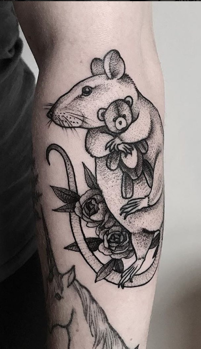 Chinese Zodiac Rat Tattoos Rat Tattoo Mouse Tattoos Pattern Tattoo