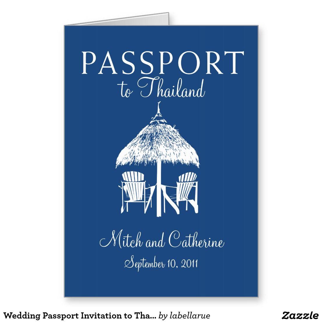 Wedding Passport Invitation To Thailand Passport Invitations And
