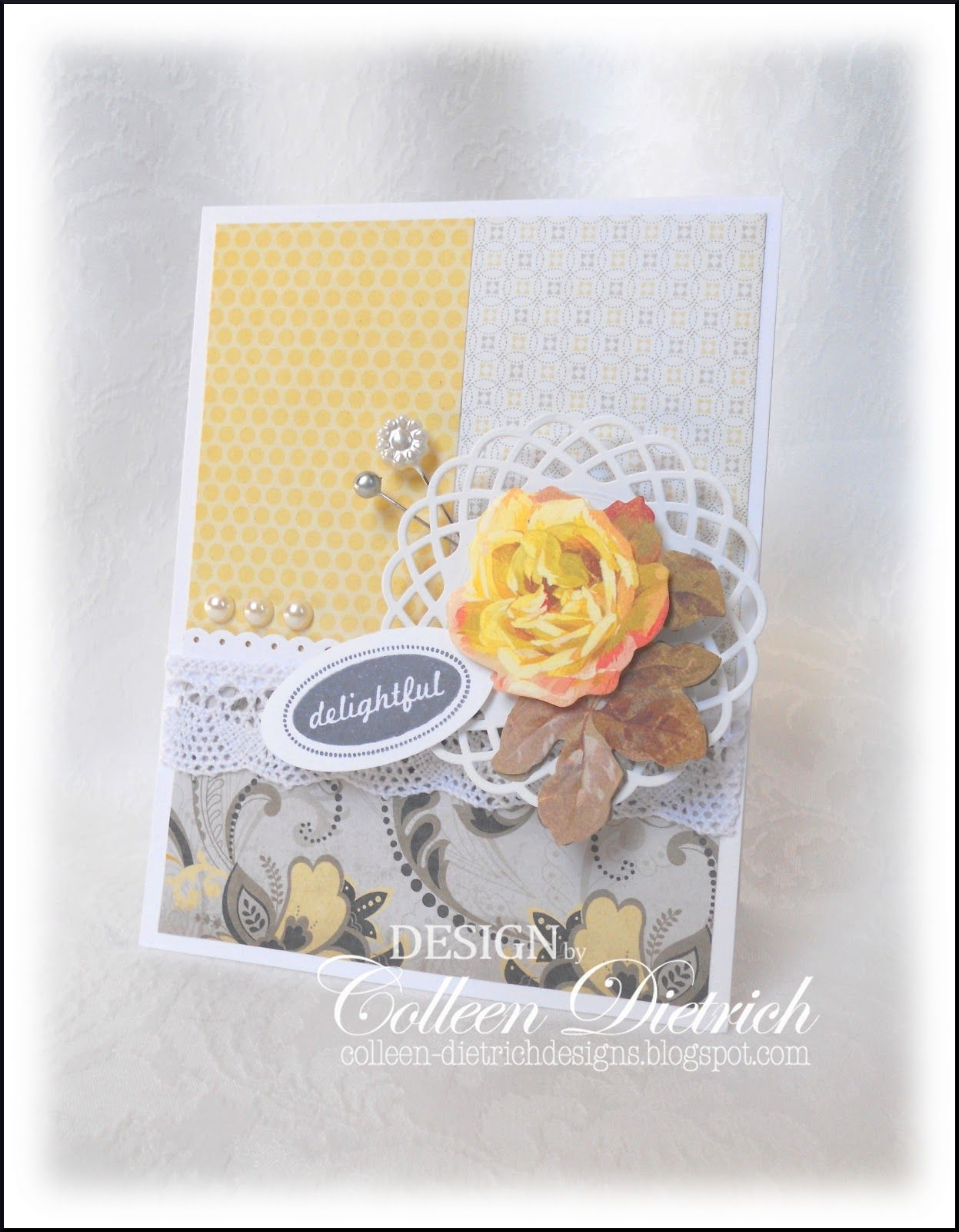 Dcwv lemon flower stack cards u scrapbook pages pinterest