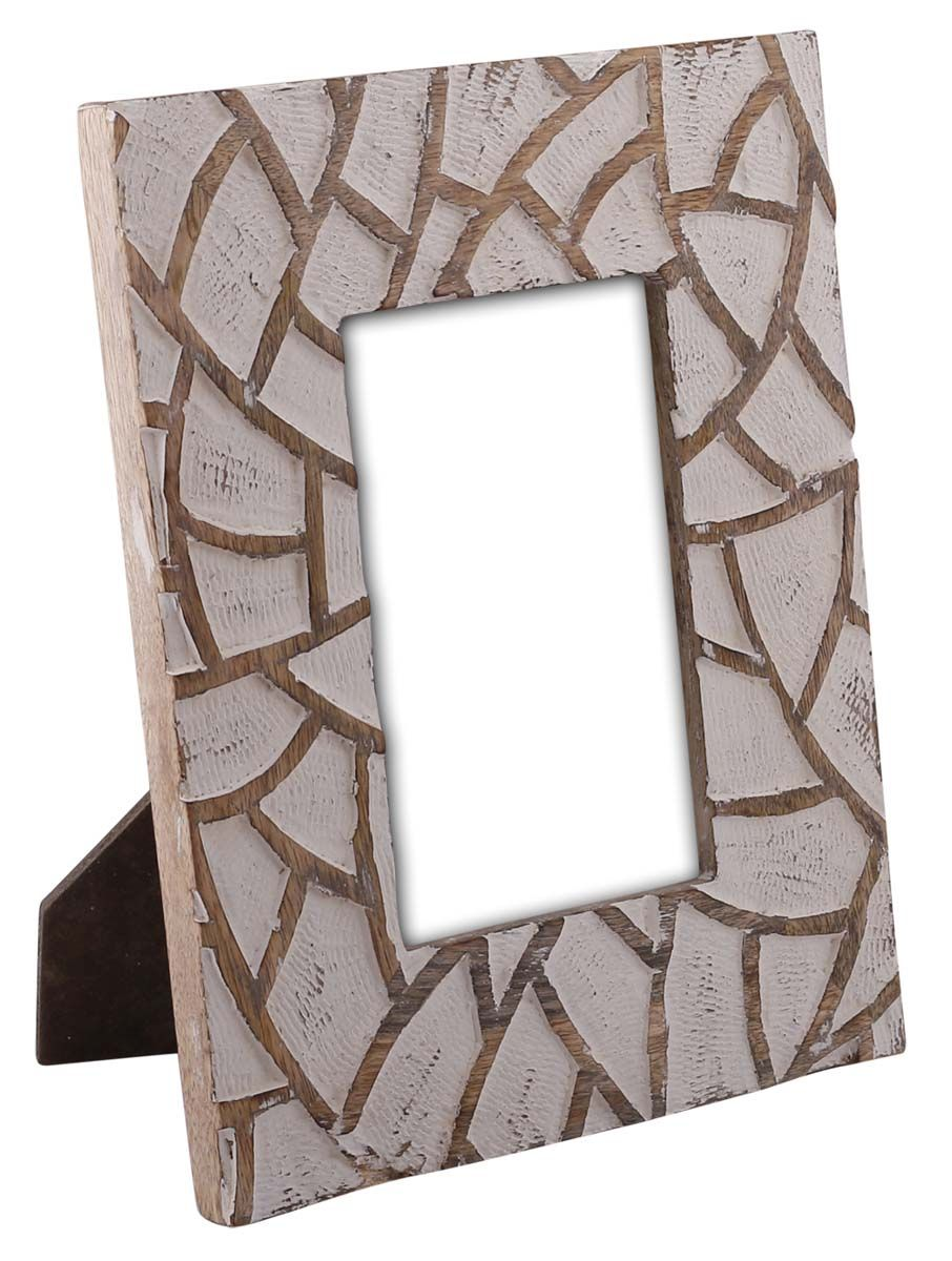 Bulk Wholesale Hand Carved 4x6 Mango Wood Photo Frame Picture Holder With Abstract Pattern In Brown W Handmade Photo Frames Picture Frames Wood Photo Frame