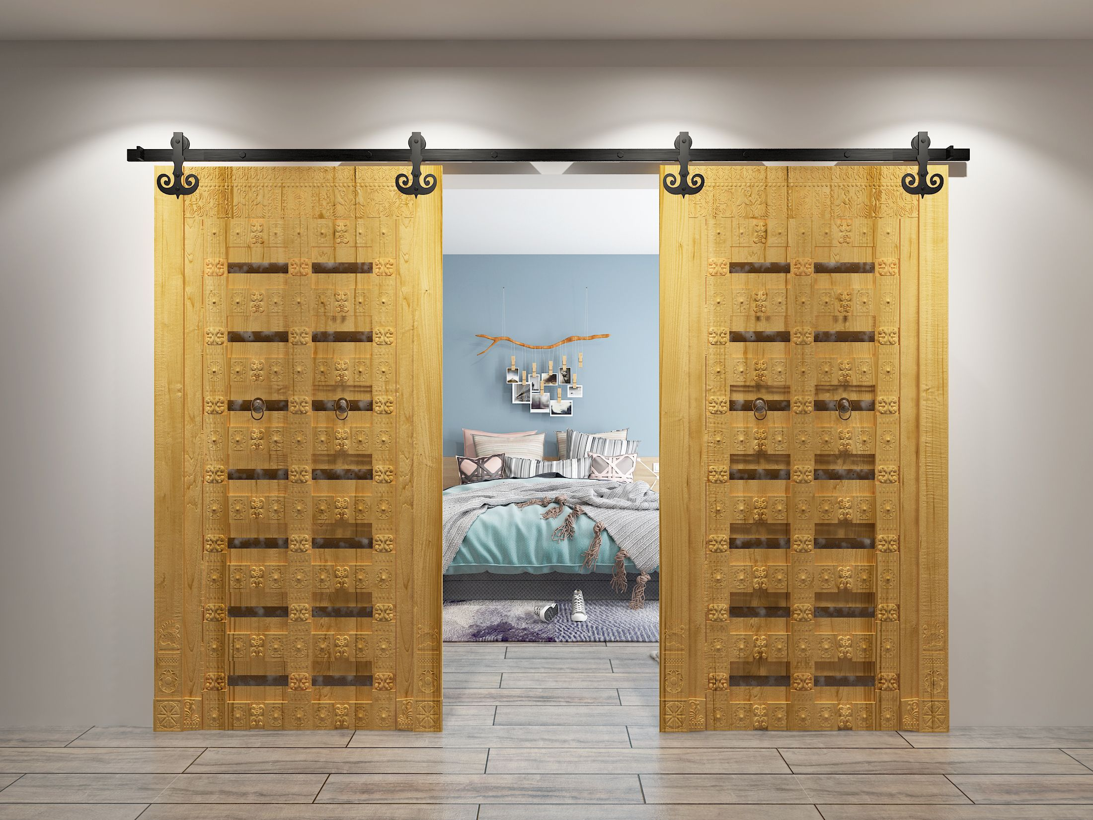 The Modern Sliding Barn Door Takes Its Design From The