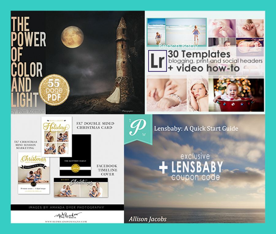 Our October Freebie Includes Pam Korman S The Power Of Color And Light Ebook And Mini Workshop Allison Jac Holiday Card Template Lightroom Templates Lensbaby