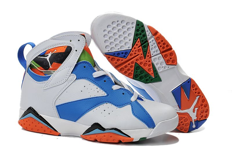 2015 Air Jordan 7 White Blue Black Orange For Sale, Price: - Air Jordan  Shoes, New Jordan Shoes, Michael Jordan Shoes