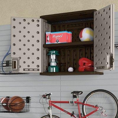 Merveilleux Suncast 4 Cubic Feet Resin Single Shelf Garage Wall Storage Cabinet (2 Pack)