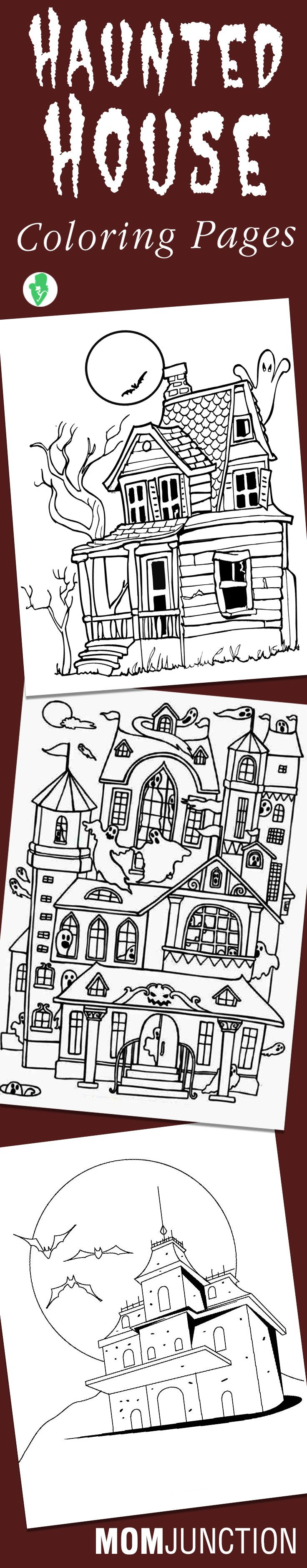 Top 10 Haunted House Coloring Pages For Your Little Ones These Can Be Quite Fun If Child Loves To Hear Ghost Stories