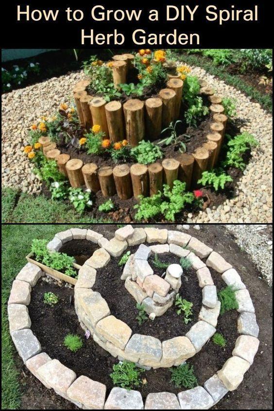 Photo of How to create a DIY spiral herb garden