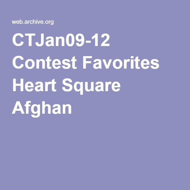 CTJan09-12 Contest Favorites Heart Square Afghan