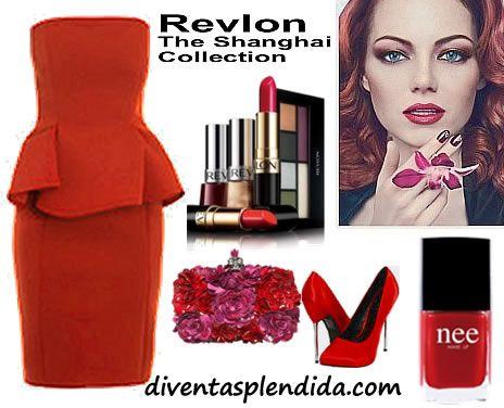 outfit invernale 2012 colore rosso, makeup revlon diventasplendida.com