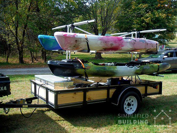 homemade kayak holder for outside build your own kayak trailer no welding or cutting required