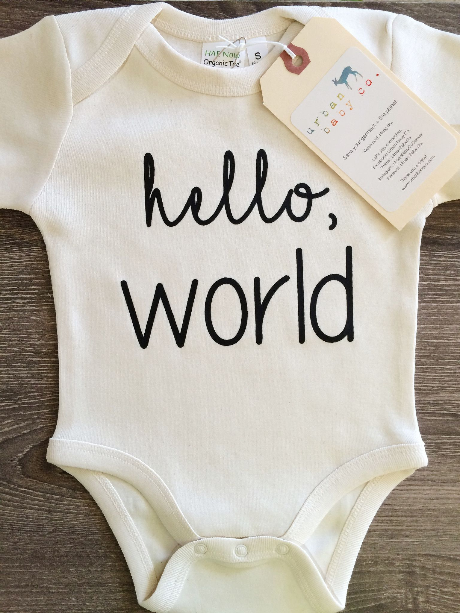 Hello World Baby, Boy, Girl, Unisex, Gender Neutral, Infant