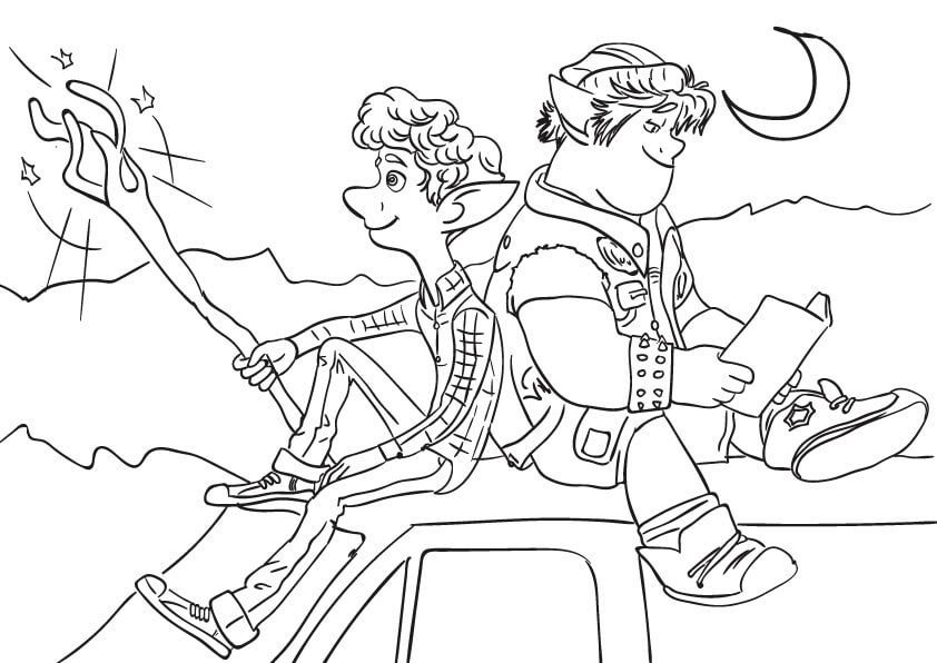 Onward Coloring Pages Cool Coloring Sheets With The Characters From The Animation Movie Onward Click On Coloring Pages Cool Coloring Pages Coloring Sheets
