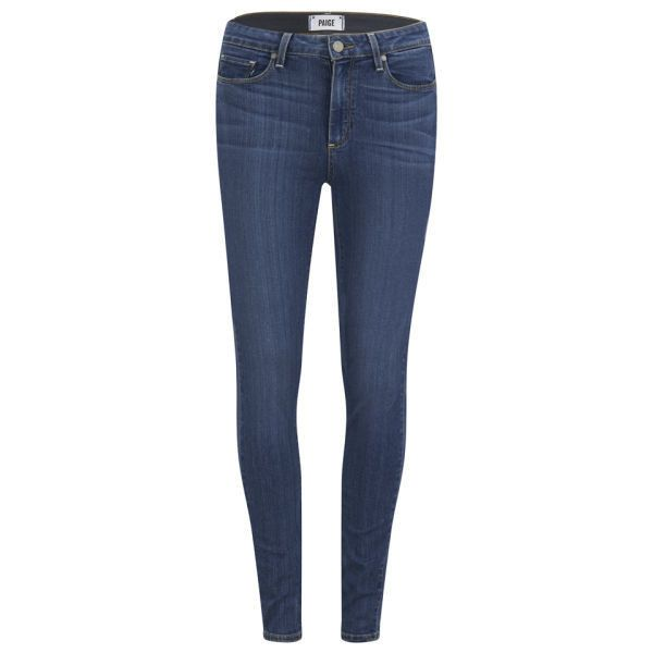 Paige Women's Hoxton Ultra Skinny Transcend Jeans - Blue (£199) ❤ liked on Polyvore featuring jeans, pants, bottoms, calças, blue, skinny leg jeans, blue skinny jeans, paige denim skinny jeans, paige denim jeans i skinny fit jeans