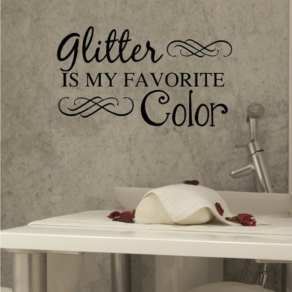 Favourite Bathroom Home Decor: Nail Salon Art, Spa Art, Glitter Is My Favorite Color