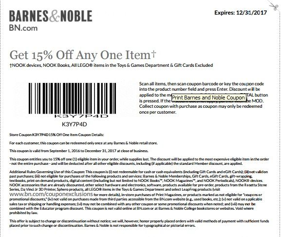photograph regarding Modell Printable Coupons referred to as Barnes Noble Printable Coupon
