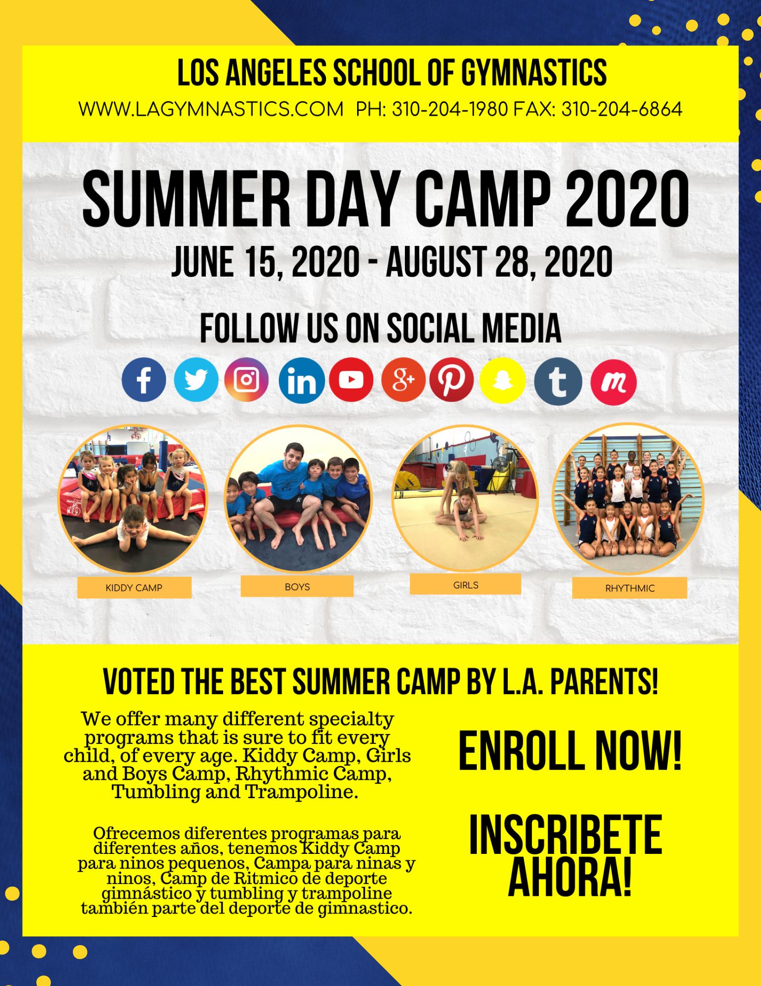 Summer Camp 2020 In 2020 Summer Camp Gymnastics Camp Gymnastics