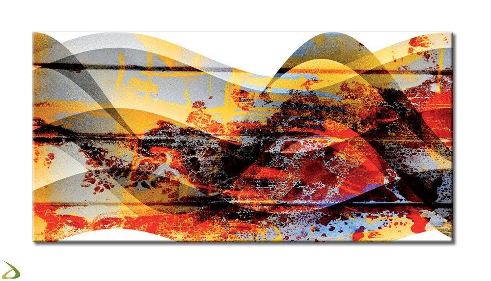 Quadro moderno abstract scenery vol iv stampa su tela astratto