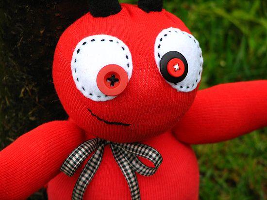 sock monster - ladybug (large) | Halloween | Sock monster