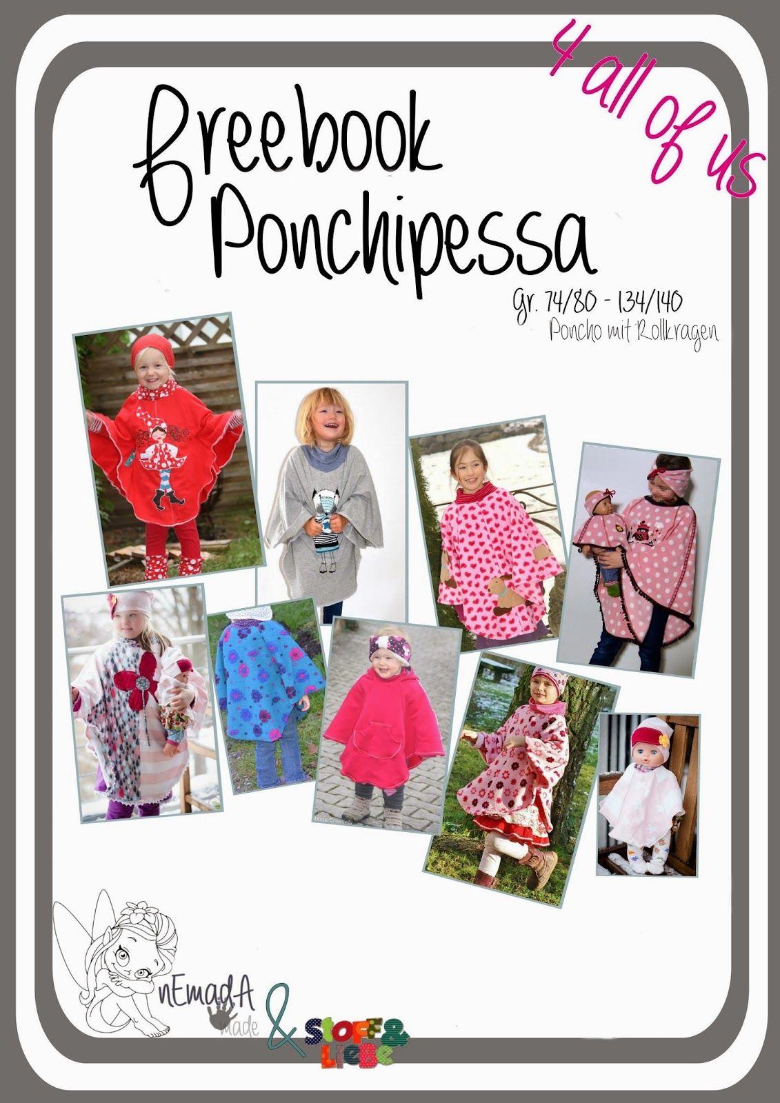 nEmadA: Poncho Ponchipessa Größe 74-140 | Kinder Westen, Ponchos ...