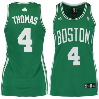 Women s Boston Celtics Isaiah Thomas adidas Kelly Green White Road Replica  Jersey 1307423ae