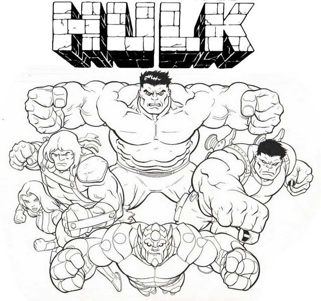 Hulk Squad Coloring Page For Marvel Fans In 2021 Hulk Coloring Pages Coloring Pages Marvel Fan