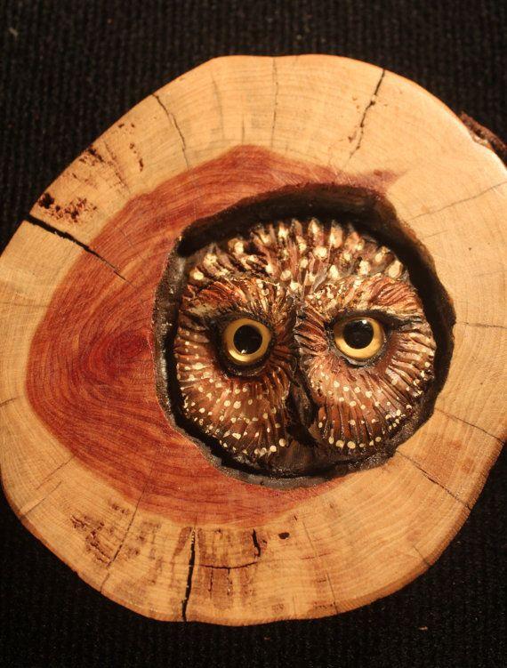 Wood carving in red cedar original hand carved sculpture