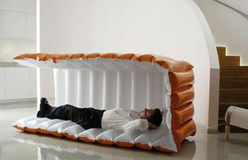 Weirdest Beds the inflatable fortress #bed - seen on http://www.wedo-beds.co.uk