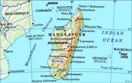 Madagascar Island Map Map of madagascar. Madagascar The fourth largest island in the
