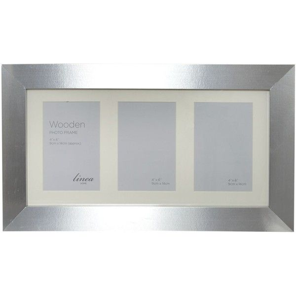 Linea Silver 3 aperture photo frame ($7.55) ❤ liked on Polyvore ...