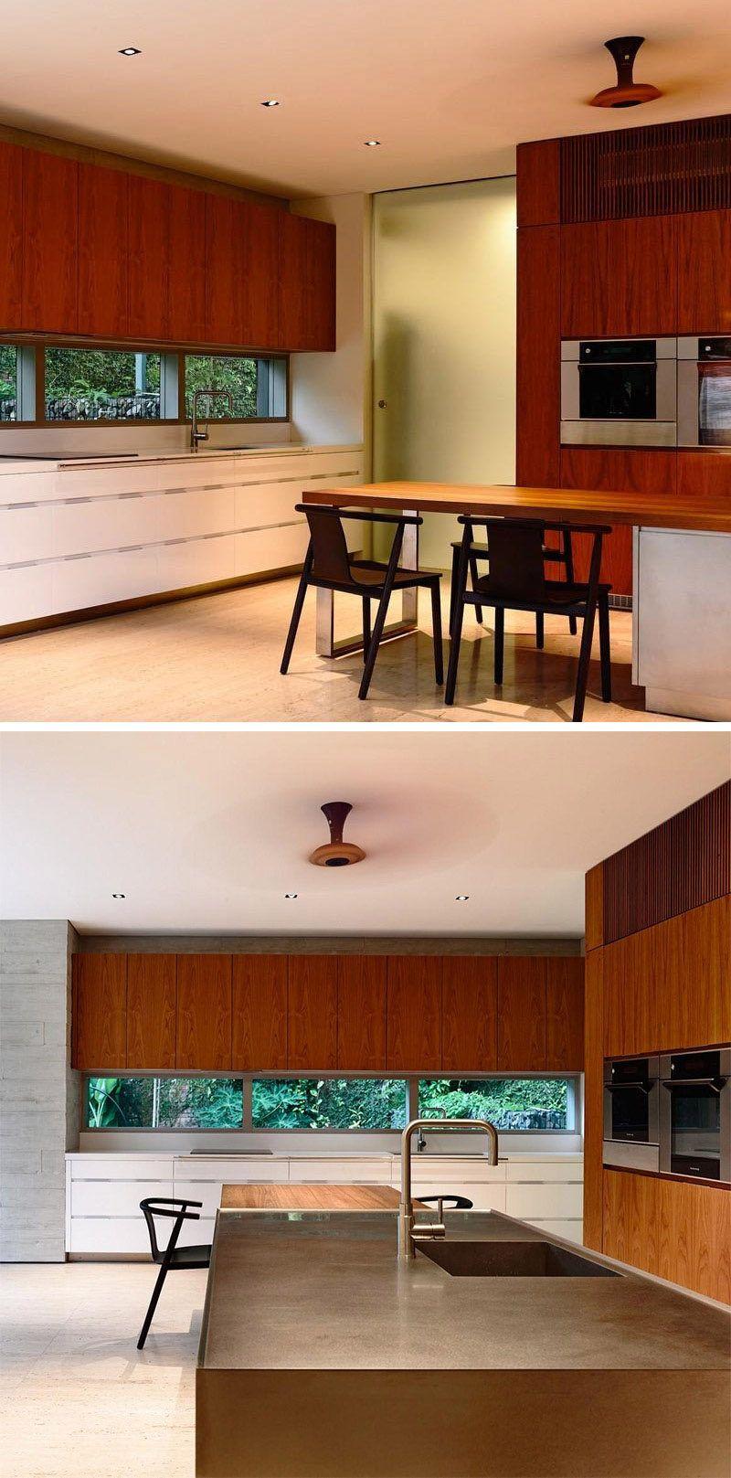 Interior Design Ideas Hide The Air Conditioning Unit Inside A Cabinet Interior Design Interior Green Dining Room