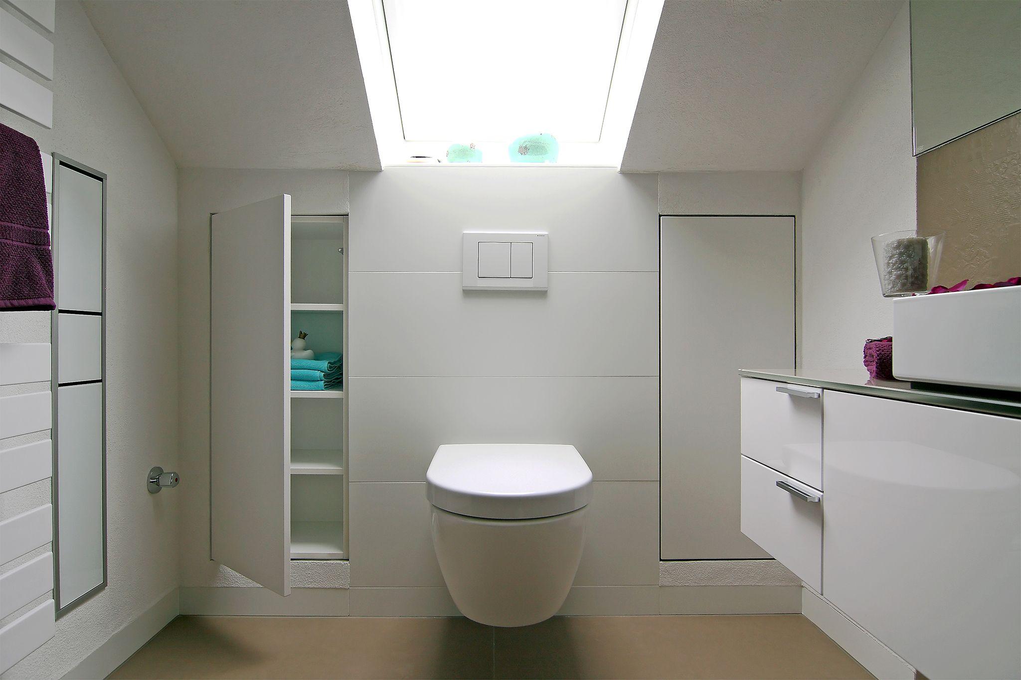 Badezimmer Einbauschrank kleines bad mit dachschräge birenbach 73102 bw einbauschränke