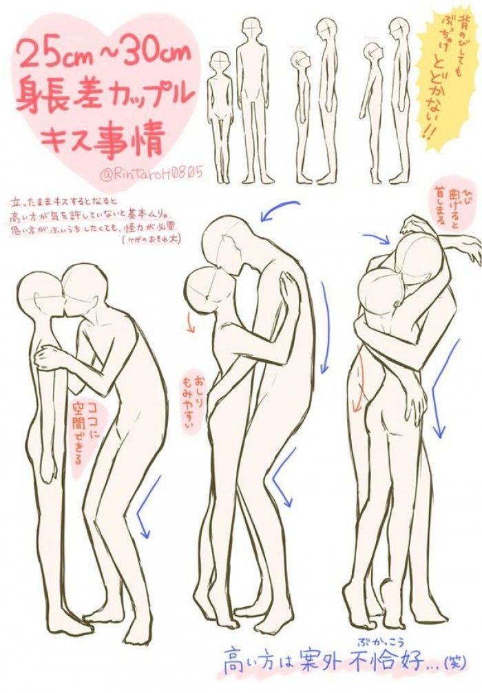 Tuto comment dessiner un couple qui s 39 embrasse avec une - Comment dessiner une tresse ...