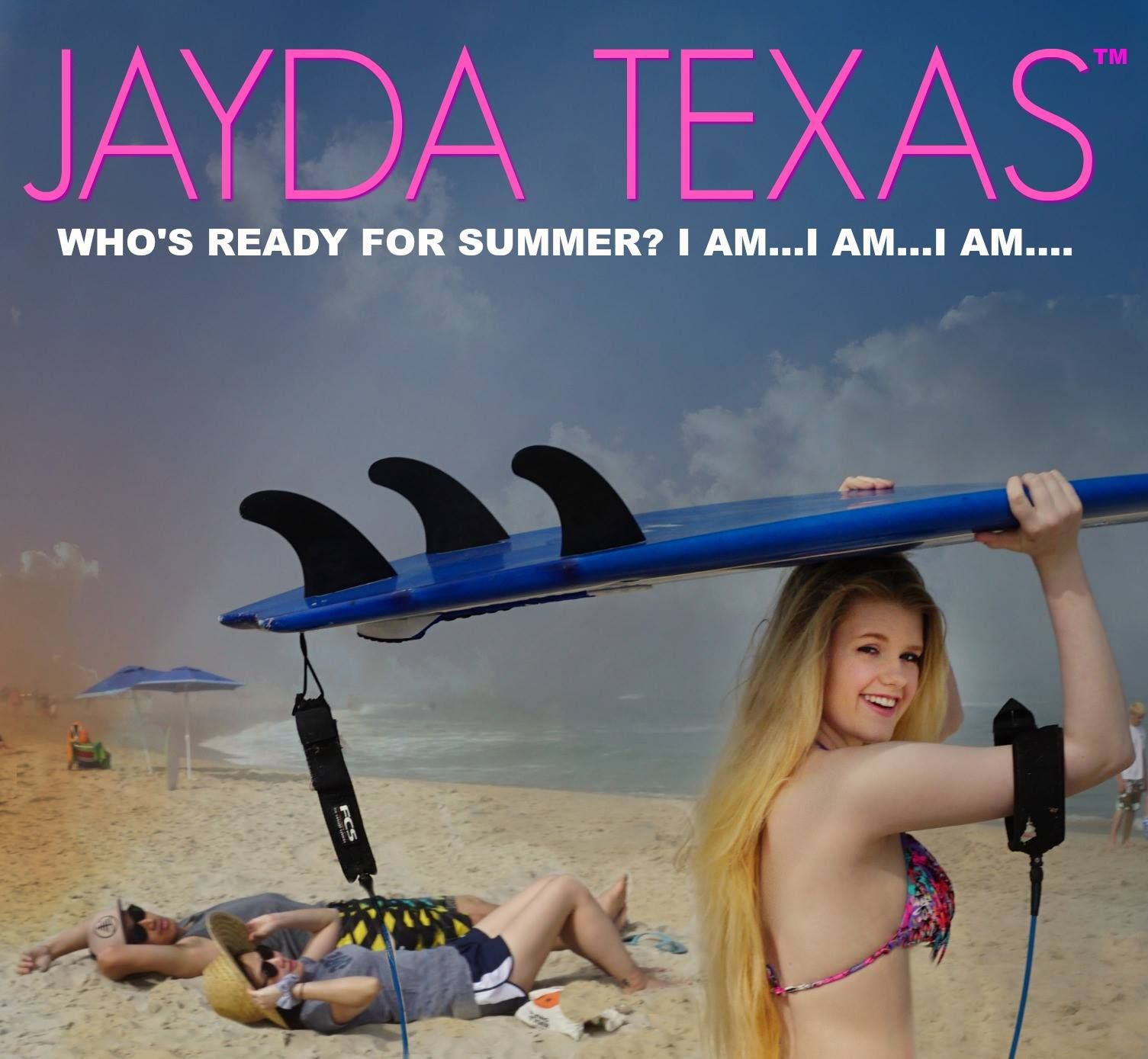 16 year old singer/songwriter Jayda Texas having fun at the beach in New Jersey.
