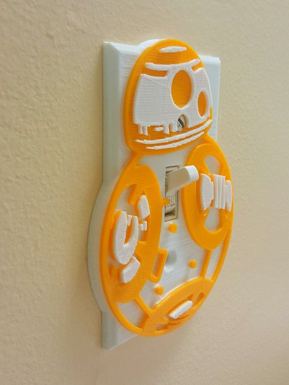 Star Wars Inspired Bb8 3d Printed Light Switch Cover 3d Printed
