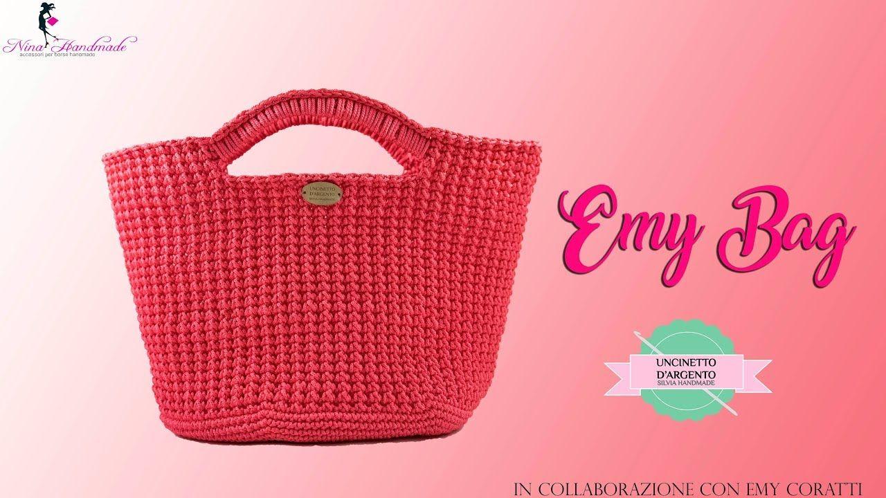 Tutorial Crochet Bag Emy Punto Foglia Uncinetto Dargento