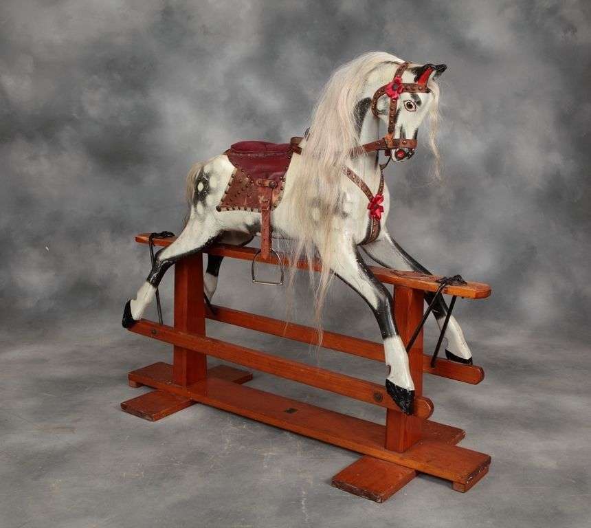 An Original Vintage Rocking Horse By Baby Carriages Of Liverpool Antique Rocking Horse Rocking Horse Horses