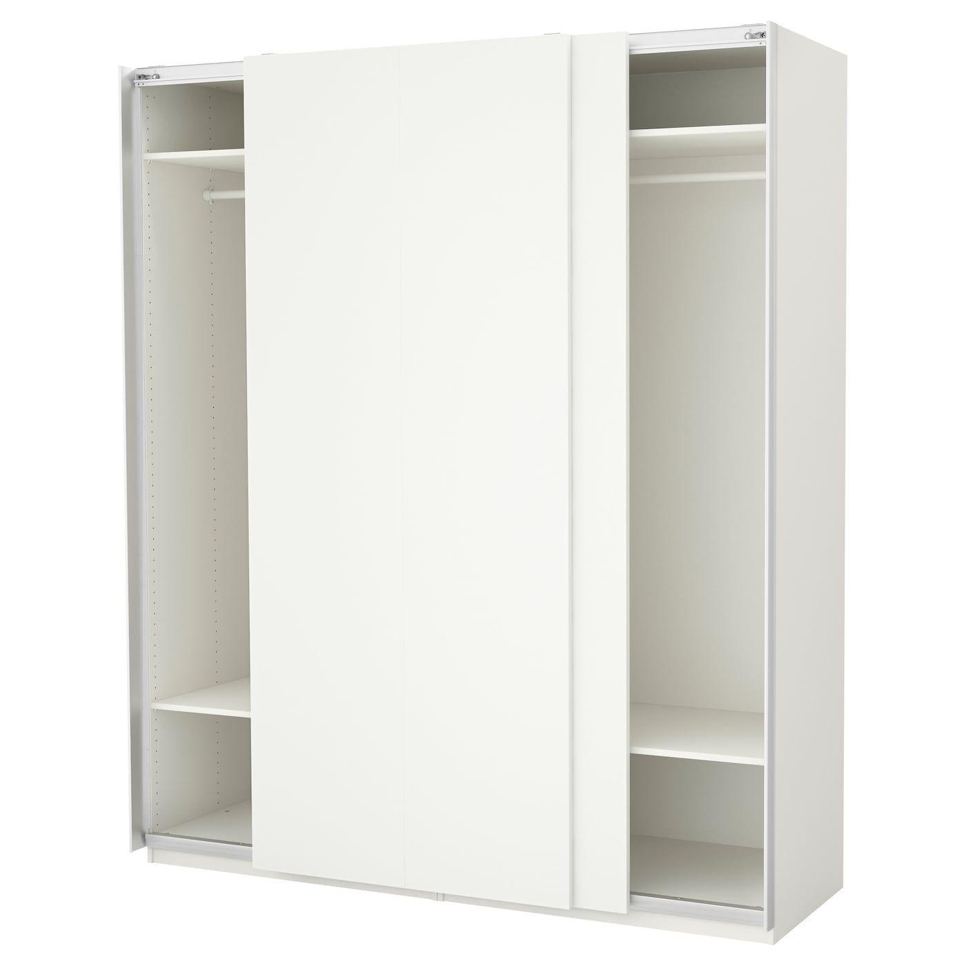 Pax Wardrobe White Hasvik White 200x66x236 Cm Pax